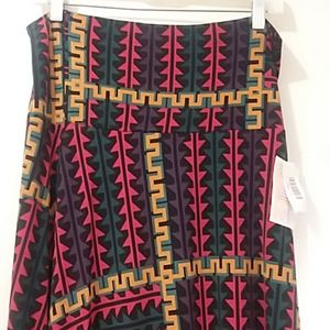 LULAROE  NWT skirt multicolored maxi Medium